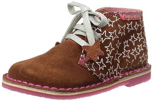 Agatha Ruiz de la Prada Arcilla y Estampado Estrella (Serraje) - Botines chelsea de cuero niña, color marrón, talla 24: Amazon.es: Zapatos y complementos