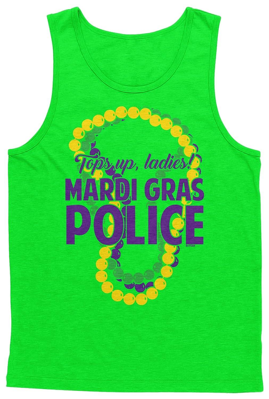 Blittzen Men's Tank Top Mardi Gras Police Tops Up Ladies