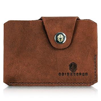 e9b88a9bace36 Coinkeeper® Mini Geldbeutel aus exklusiv Echt-Leder - Geldbörse Herren  klein mit Münzfach -