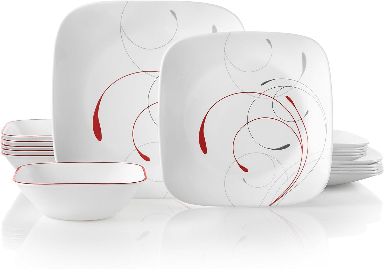 Corelle 18-Piece Service for 6, Chip Resistant, Splendor Dinnerware Set