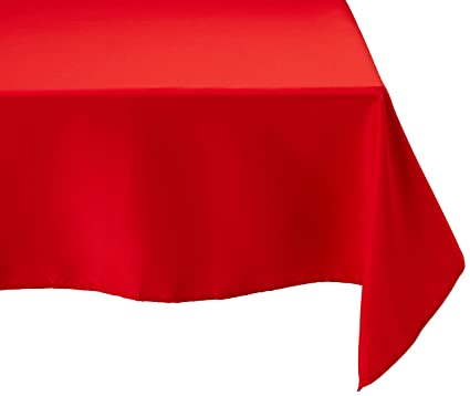LinenTablecloth 70 Inch Square Polyester Tablecloth Red