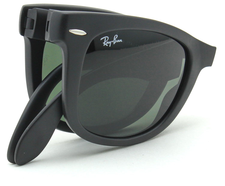 95da61b9bff8d Amazon.com  Ray-Ban RB4105 601S WAYFARER FOLDING CLASSIC Sunglasses Matte  Black