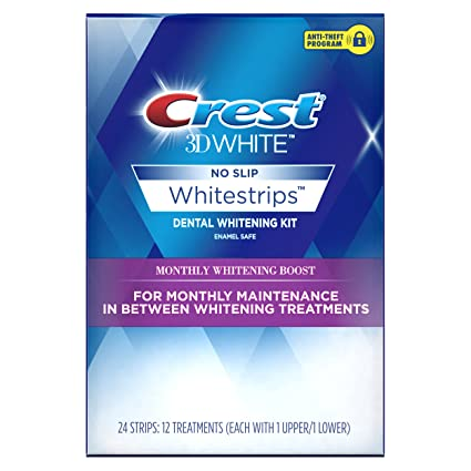 Amazon Com Crest 3d White Whitestrips Monthly Whitening Boost
