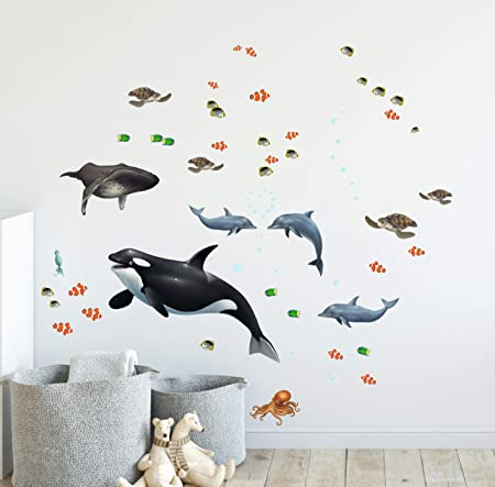 Details about  /3D Fishing Kid Wall Stickers Vinyl Murals Wall Print Decal Deco Art AJ STORE AU