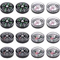 Lot de 16haute qualité Petite Mini Button Compas pour le camping randonnée Voyager 20mm