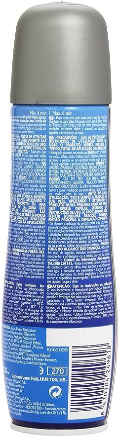 Veet for Men Spray depilatorio - Piel normal, 150ml: Amazon.es: Amazon Pantry