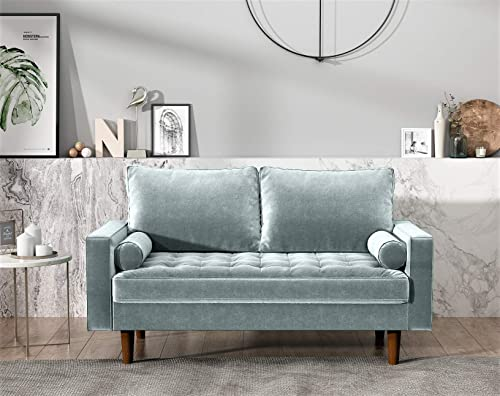 US Pride Furniture Modern Living Room Tufted Velvet Loveseat