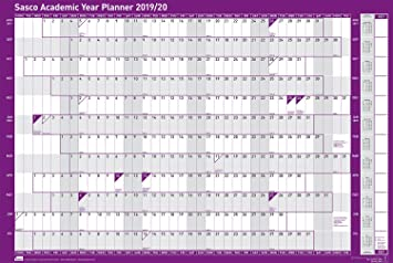 2020 2020 Academic Calendar Template.Sasco 2019 2020 Poster Style Academic Year A1 Wall Planner With Sticker Pack Wet Wipe Marker Pen Pen Clip W915 X H610mm