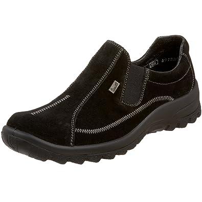 echte Schuhe große Auswahl an Farben beispiellos Rieker Women's Eike 60 Flat, Glace Black, 40 EU (US Women's ...