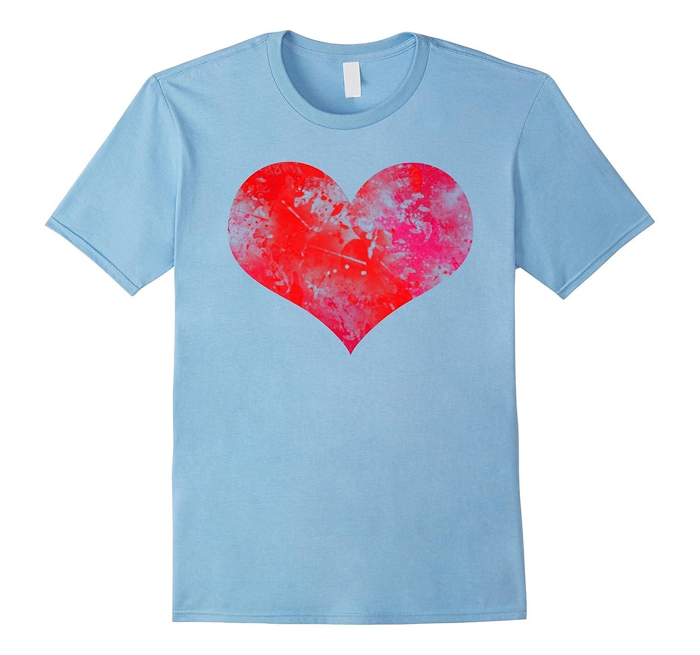 Womens Valentines Shirt Heart Black-Xalozy