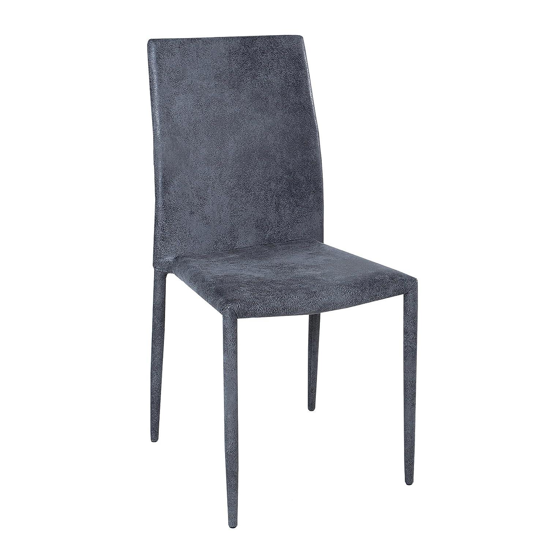 Exklusiver Exklusiver Exklusiver Design Stuhl MILANO antik grau stapelbar Esszimmerstuhl Besucherstuhl Küchenstuhl af9b0a