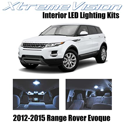 XtremeVision Land Rover Range Rover Evoque SUV 2012-2015 (9 Pieces) Cool  White Premium Interior LED Kit Package + Installation Tool