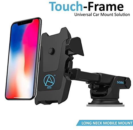 Able Long Neck One Touch Mount Holder for All Smartphones(3rd Generation, Black) <span at amazon