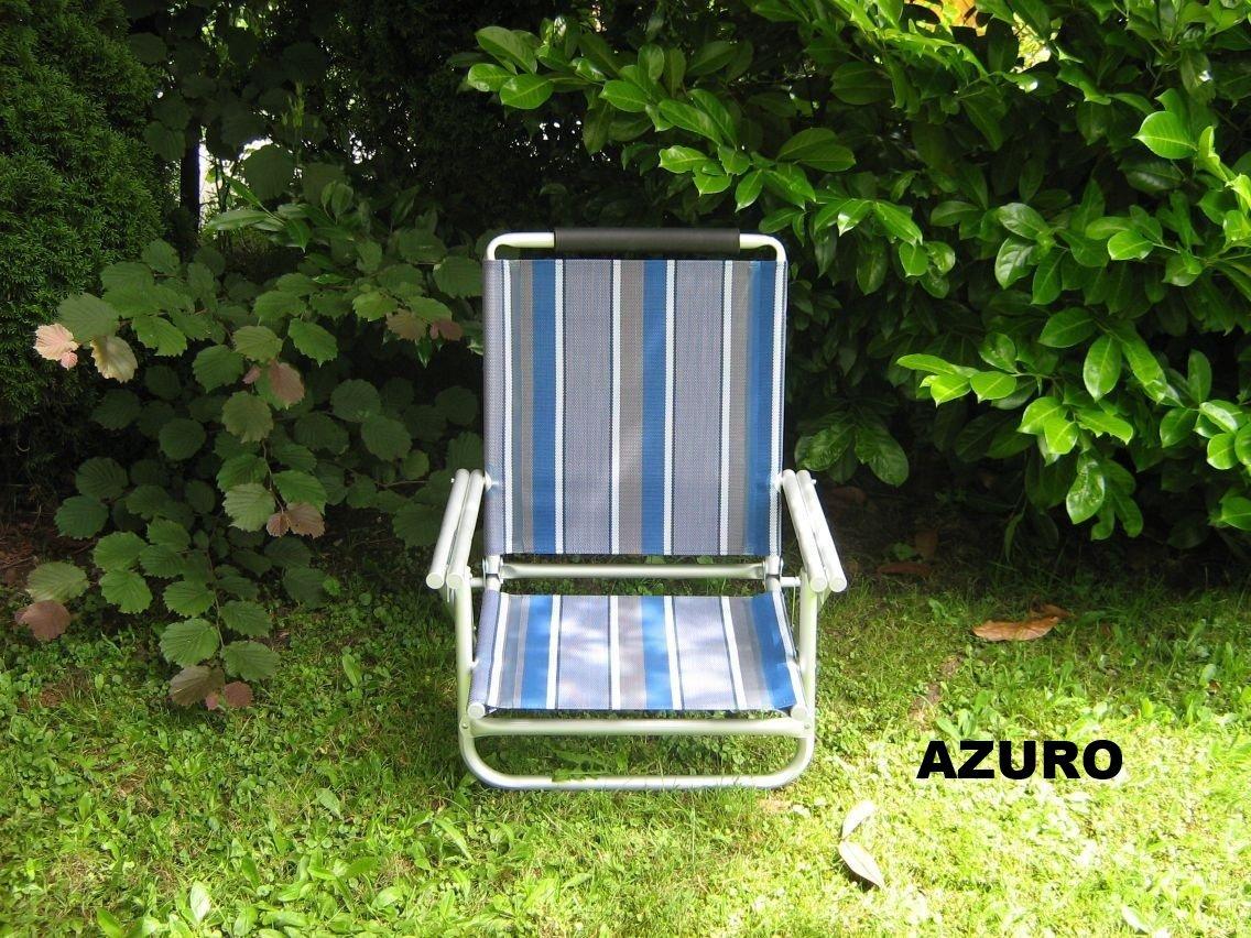 BEACH - STRAND STÜHLE - 4 er SET - ALU - STABIELO - AZURO oder BLAU + abnehmbaren KOPFPOLSTER+ TRAGEGURT ca. 120 Kilo belastbar ca. 2,8 kg - 4 fach verstellbare 62 cm hohe Rückenlehne - auch lieferbar gegen Aufpreis als HOLLY - SUN-SET mit Fächerschirm-blau-gelb-rot-silbergrau- und Holly 360 ° Universalgelenkhalterung ® - HOLLY PRODUKTE STABIELO ® - INNOVATIONEN MADE in GERMANY - PREIS NUR SO LANGE VORRAT REICHT - holly-sunshade ®