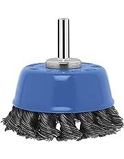 Bosch 2 609 256 521 - Cepillo de vaso para taladradoras, alambre trenzado, 65 mm