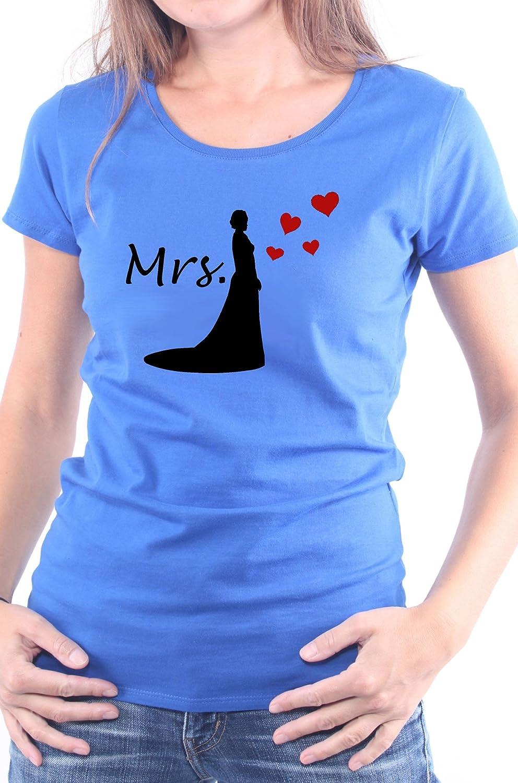 Mister Merchandise Ladies Damen Frauen T-Shirt Mrs - Braut Tee Mädchen  Bedruckt: Amazon.de: Bekleidung