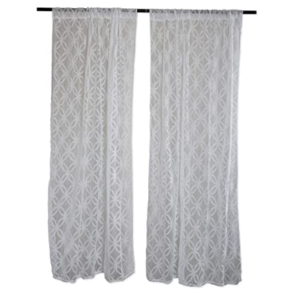 Attrayant Home Essentials DII Sheer Lace Decorative Curtain Panels For Bedroom,  Living Room, Guest Room