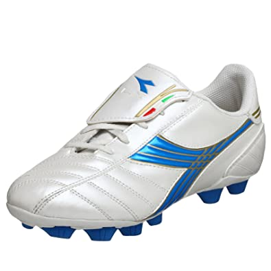 29918bc5f5aa Amazon.com | Diadora Little Kid/Big Kid LX MD Jr Soccer Cleat, White ...