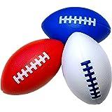 """LMC Products Foam Football - 7.25"""" Kids Football - Small Footballs for Kids –Mini Football 3 Pack"""
