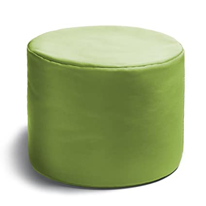 Jaxx Spring Indoor/Outdoor Bean Bag Ottoman, Lime Green