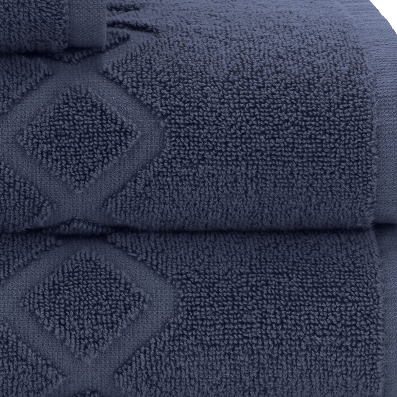 Briarwood Home 100/% Cotton Luxury Soft Ringspun 6 Piece Bath Towel Set in White Sand TWBSRS049
