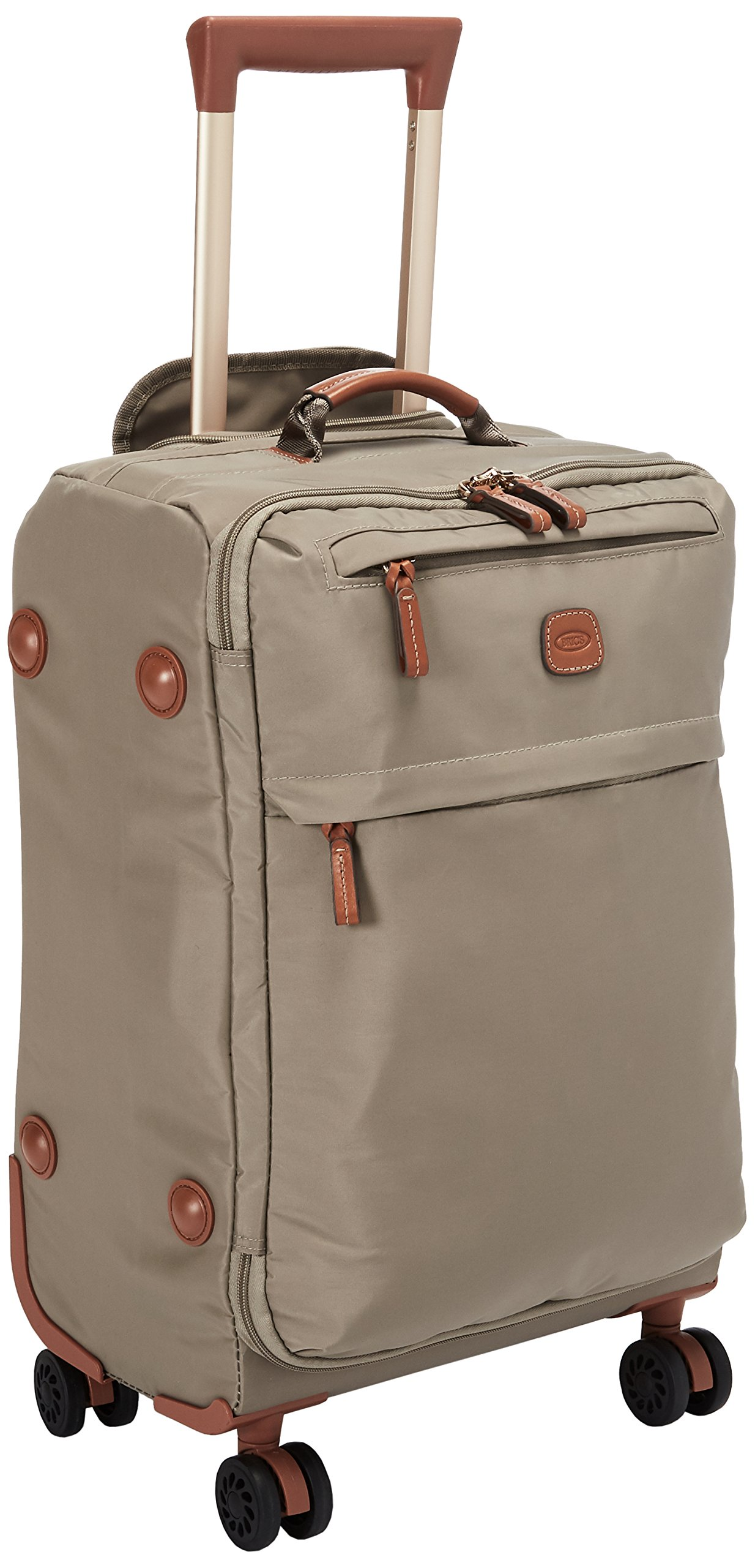 Bric's X-Bag/x-Travel 21 Inch International Carry on Spinner with Frame, Dove Grey