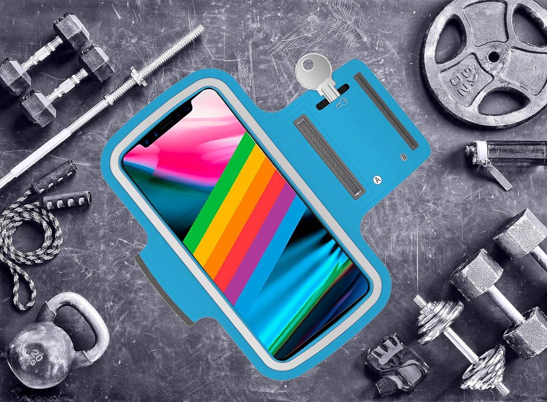 Samsung Galaxy S20 Plus S9 Plus S10 Plus compatibile con iPhone 11 Pro Max XS Max 11 S8 Plus AR-Gun Fascia sportiva da braccio per smartphone fino a 6,8