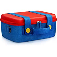 Funlab Travel Carrying Case Compatible With Nintendo Switch System,Cute and Deluxe,Protective Hard Shell Carry Bag for Nintendo Switch Console & Accessories