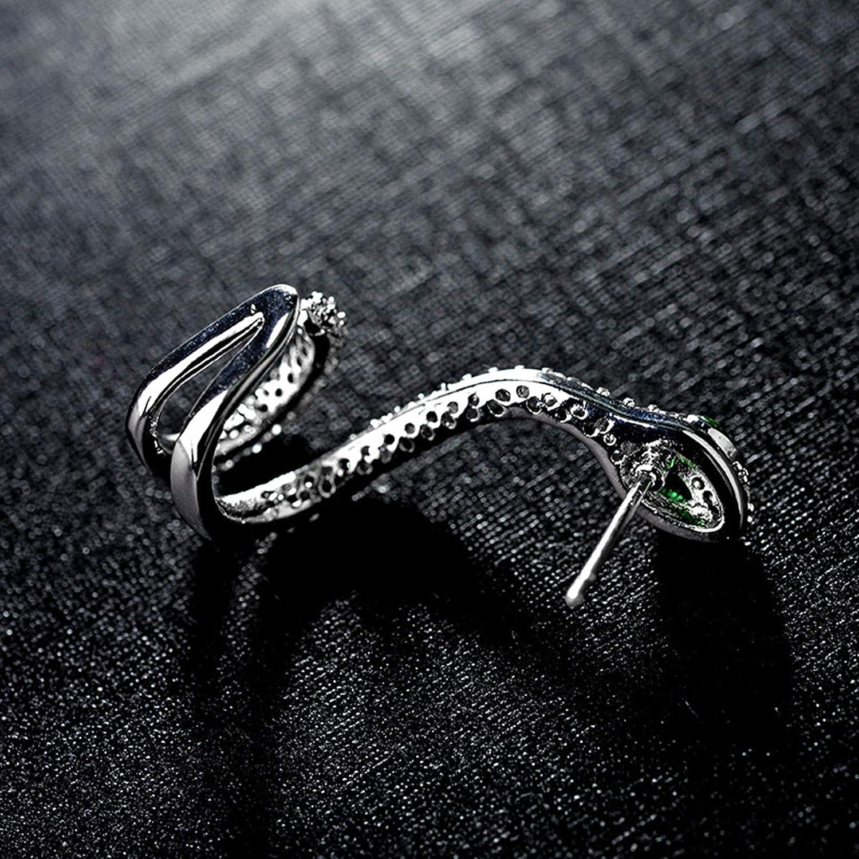 ANAZOZ Boucles dOreilles Serpent Argent 925 Micro Pav/é AAA Zirconium Personnalit/é Boucle dOreille Femme Fantaisie 1 Pi/èce