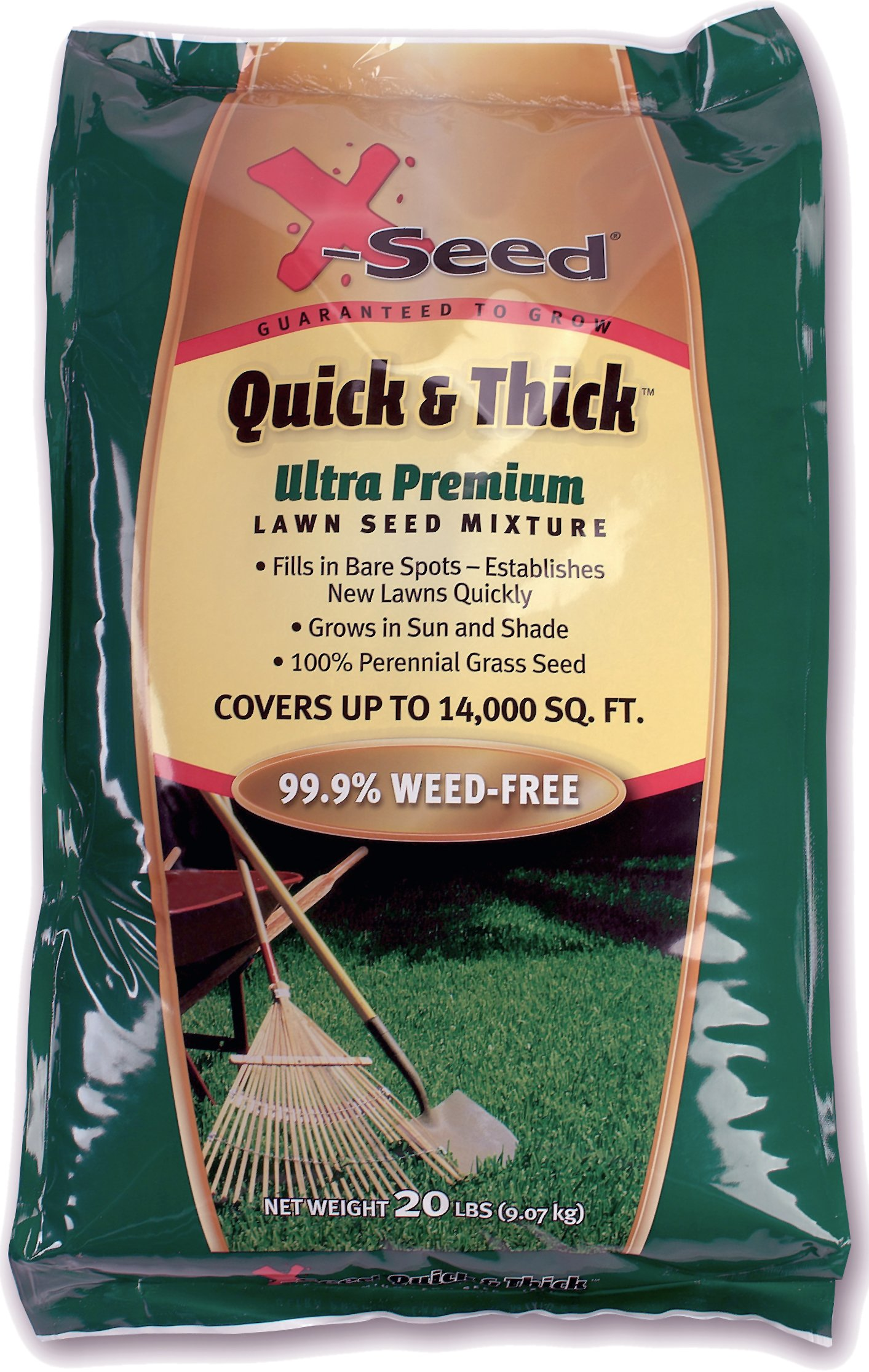 X-Seed Ultra Premium Quick and Thick Lawn Seed Mixture, 20-Pound by X-Seed (Image #1)