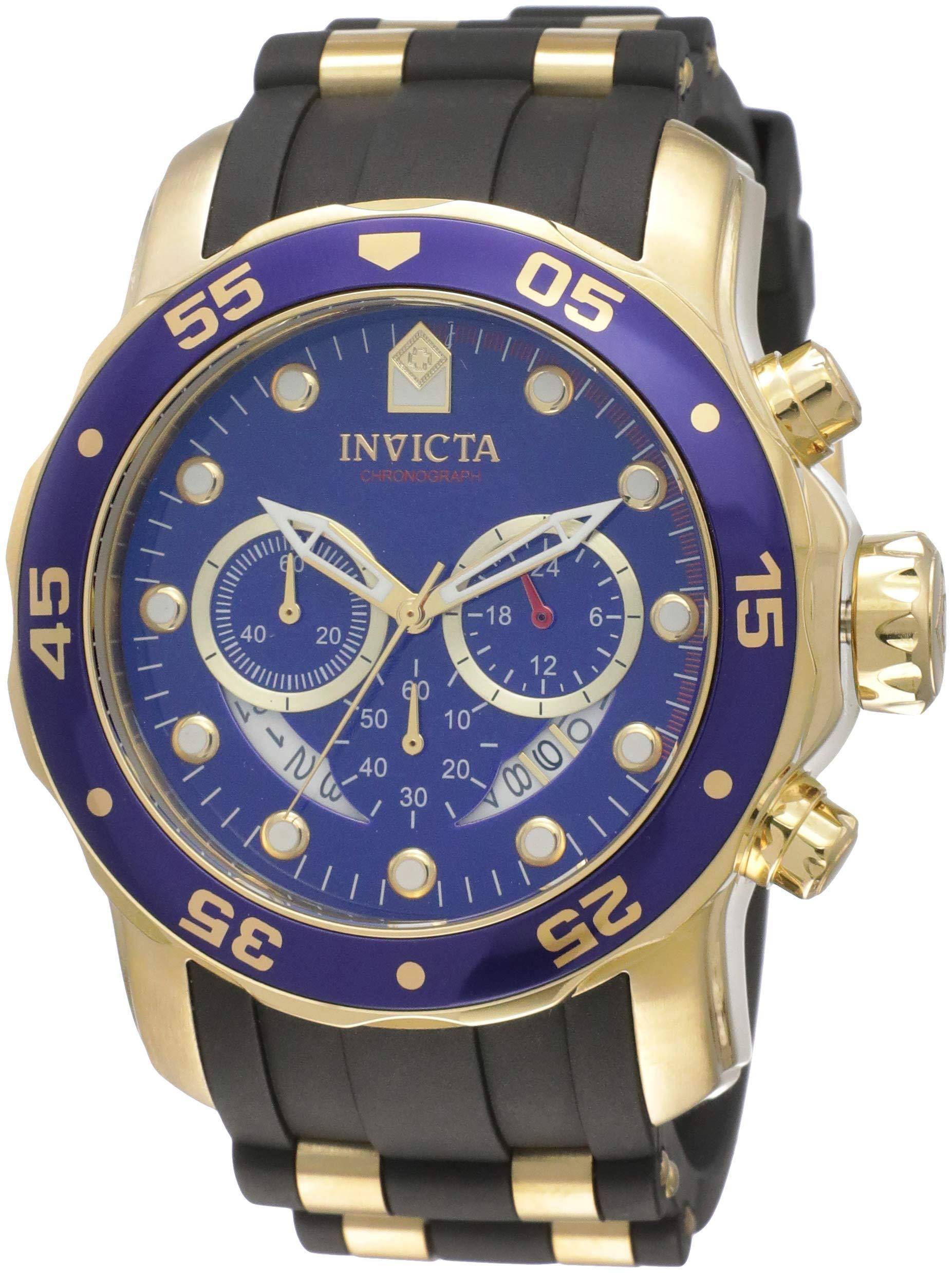 Invicta Men's 6983 Pro Diver Collection Chronograph Blue Dial Black Polyurethane Watch by Invicta