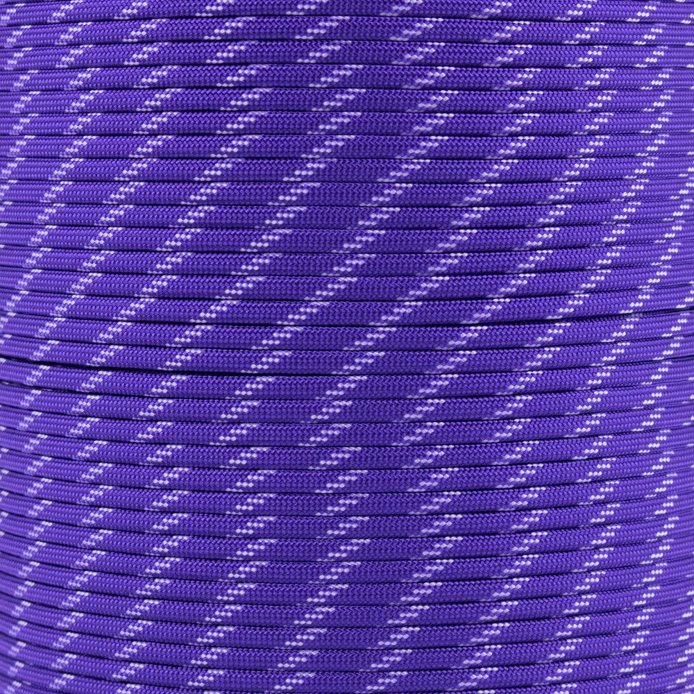 Paracord Planet Glow in the Dark Paracord - Made of 100% Nylon with 7 Inner-Core Strands - Available in 10, 25, 50, and 100 Foot Lengths that is Made in the USA (Acid Purple Glow in the Dark, 10 Feet)