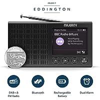 Majority Eddington Portable Rechargeable Léger Radio Dab + et FM avec Bluetooth