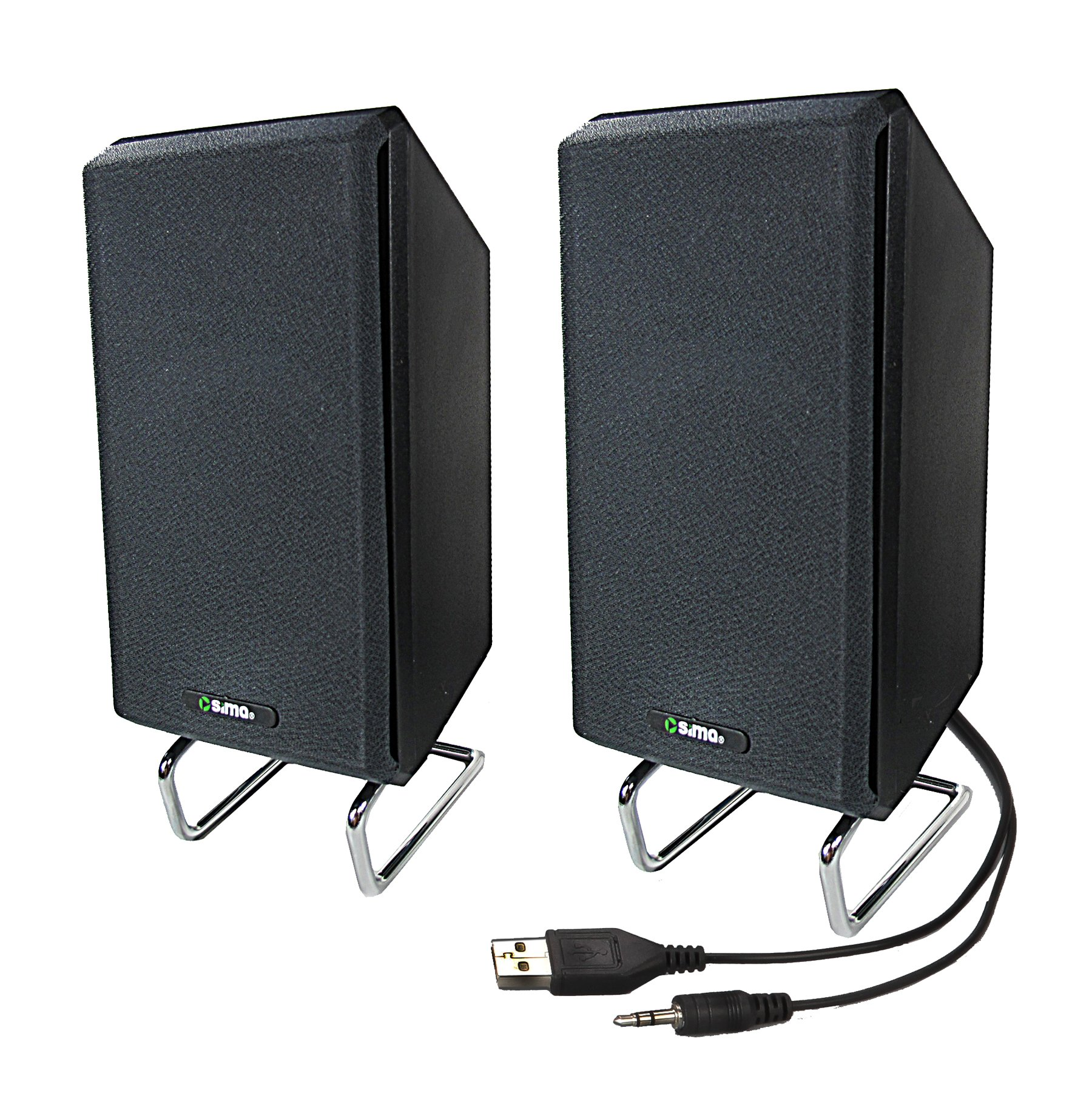 Sima XL-PRO-SPK 10 W Computer/Projector Speakers with Standard Headphone Plug, Black