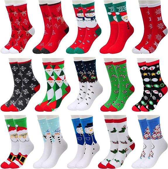 2Pairs Women Girls Winter Warm Soft Christmas Santa Bed Sleep Socks Xmas Gifts B