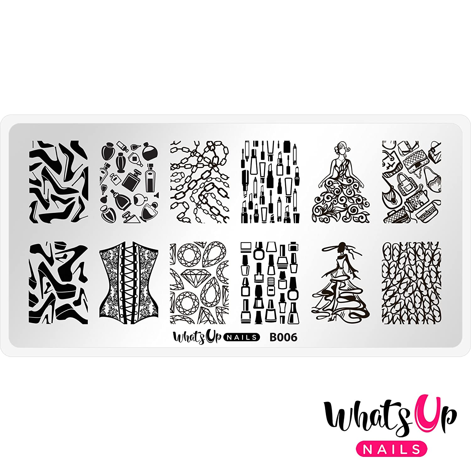 Whats Up Nails - B006 A Lá Mode Stamping Plate for Nail Art Design
