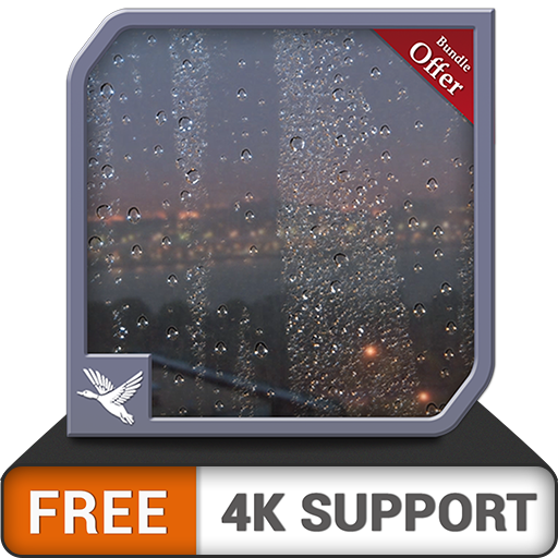 FREE Rainy Bridge Life HD - Enjoy the summer with Cool Rainy Theme  during Christmas Holidays on your HDR 8K 4K TV and fire devices as a wallpaper & theme for mediation & peace