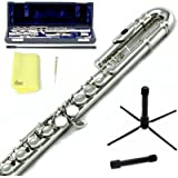 Sky C Flute with Lightweight Case, Cleaning Rod, Cloth, Joint Grease and Screw Driver -  silver