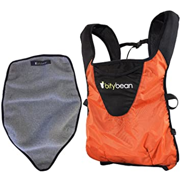 d43252ff540 Amazon.com   Bitybean - UltraCompact Baby Carrier with Fleece Liner - Carrot  Orange   Baby