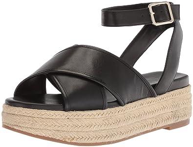 393be74c2d64 Nine West Women s SHOWRUNNER Leather Sandal Black