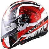 LS2 FF386 Flip-Up Helmet (Red, L)