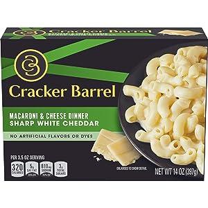 Cracker Barrel Sharp White Cheddar Macaroni & Cheese Dinner (14 oz Box)
