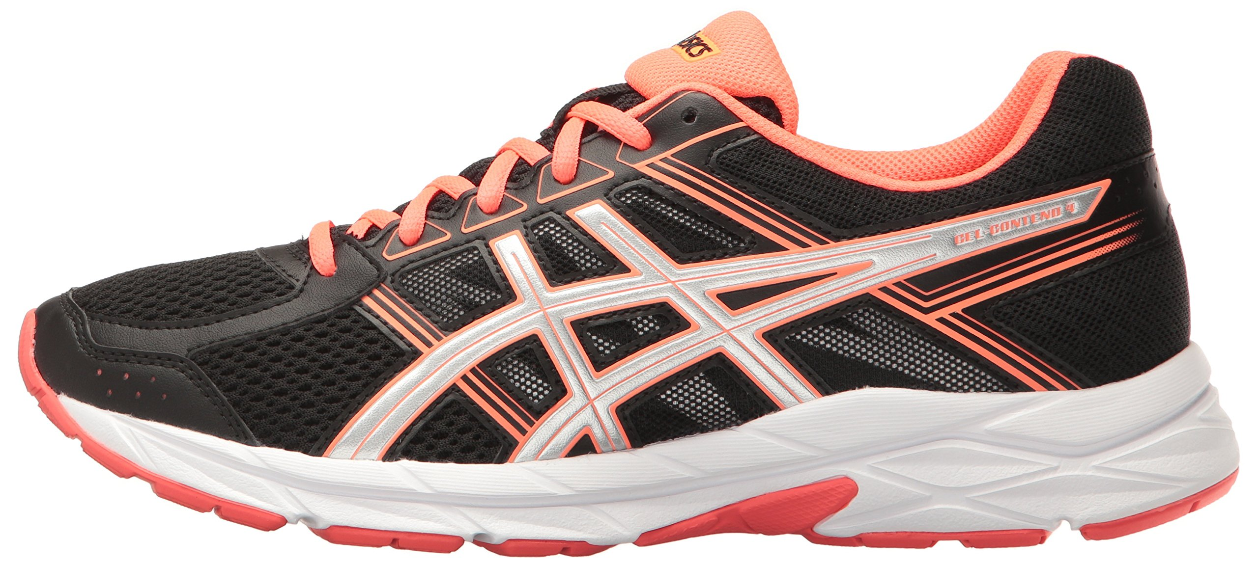 ASICS Women's Gel-Contend 4 Running Shoe, Black/Silver/Flash Coral, 5 M US by ASICS (Image #5)