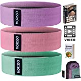 Morisso Resistance Booty Band Set - 3 Non Slip Fabric Resistance Bands for Women and Men - Exercise Bands for Gym, Home…