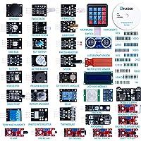 ELEGOO Ulepszony zestaw czujników 37 w 1 zgodny z Arduino IDE z instrukcją obsługi projektów elektronicznych.