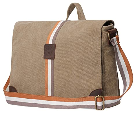 ab102e2061 Image Unavailable. Image not available for. Color  Rustic Town 15 inch  Vintage Crossbody Canvas Laptop Messenger Bag