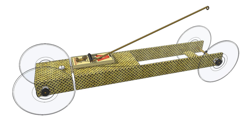 Basic II Mousetrap Car Distance Kit: by Doc Fizzix