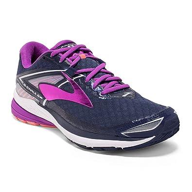 24af0320a61 Brooks Women s Ravenna 8 Peacoat Purple Cactus Flower Fusion Coral Athletic  Shoe  Amazon.in  Shoes   Handbags