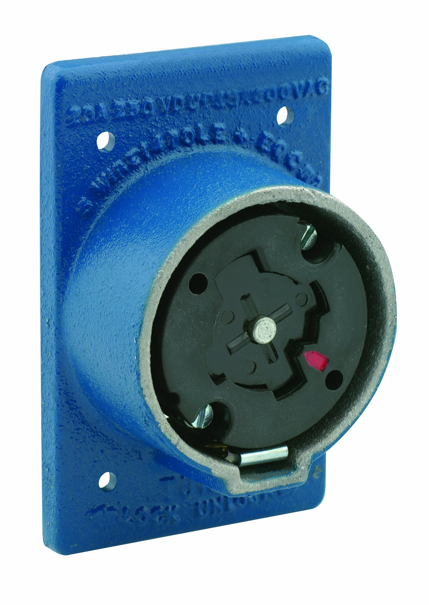 Leviton 25415-B 30 Amp, 600 Volt AC , 20 Amp-250 Volt DC 4-Pole 5-Wire Non-NEMA Grounding, Locking Plug by Leviton
