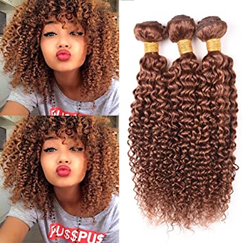 Peruvian Virgin Ombre Colored Curly Hair Weft 3 Bundles Jerry Curly 100 Human Hair Weaves